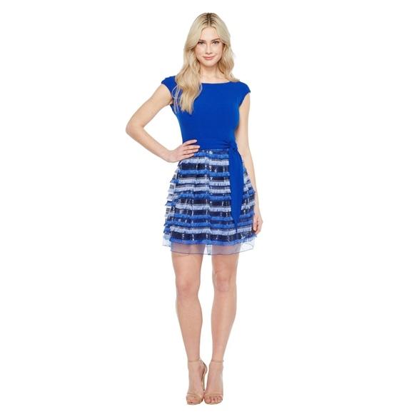 46445ab3c10a Eva Franco - Folly Fringe Dress in Cobalt